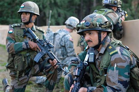 Mba In Indian Army by Indian And Us Soldiers During A Event At Exercise