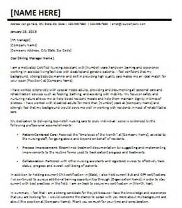 Certified Nurses Aide Cover Letter by 24 Day To Day Use Cover Letters Office Templates