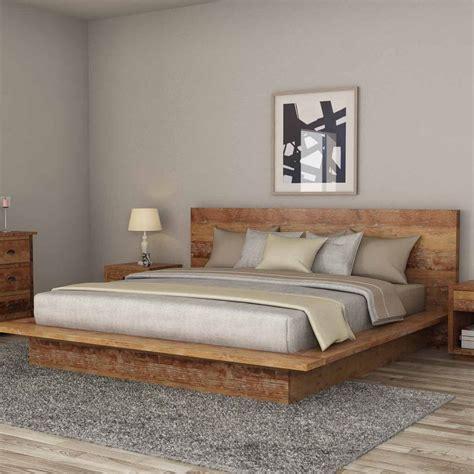 britain rustic teak wood platform bed frame platform bed