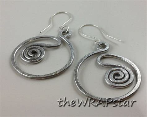 Handmade Aluminum Jewelry - aluminum wire wrapped jewelry handmade wire earrings