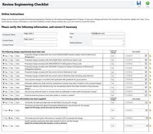 Engineering Checklist Template by Pending Engineering Moc Checklist