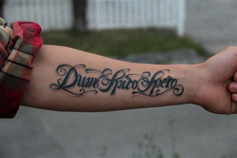 dum spiro spero tattoo com