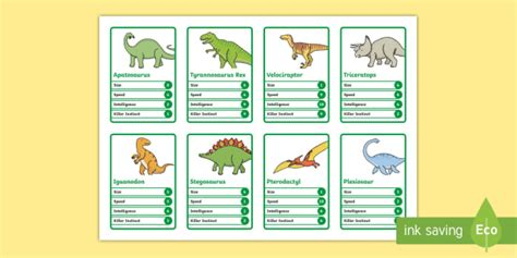 dinosaur top trumps cards template ks1 dinosaur card safari animal top trumps cards
