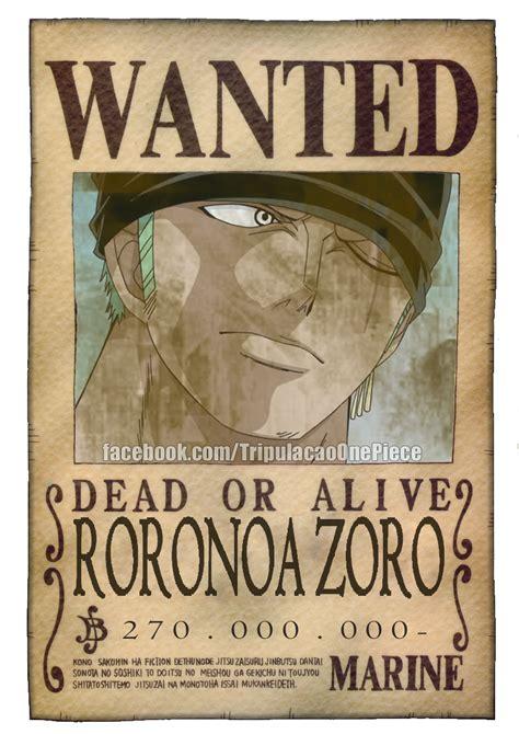 Bounty Criminal Record One Roronoa Zoro Bounty Pos Ts By