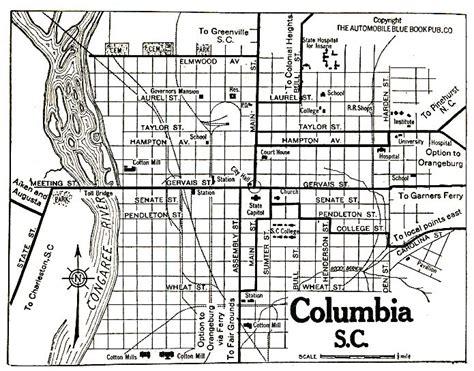 map of columbia south carolina columbia south carolina historical maps