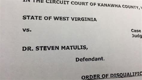 Kanawha County Circuit Court Search Judge Disqualifies Kanawha Prosecutor S Office In Doctor Investigation Wchs