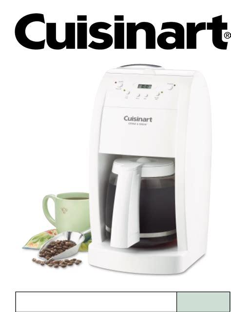 Cuisinart Coffeemaker DGB 500 User Guide   ManualsOnline.com