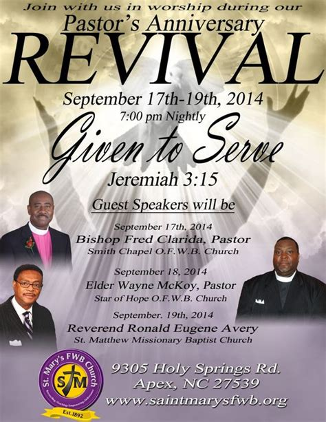 church revival flyers revival flyer hoz print ideas