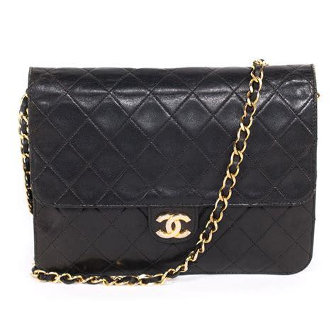 Handbag Balisi 3619 Leather chanel vintage black quilted leather classic square flap handbag