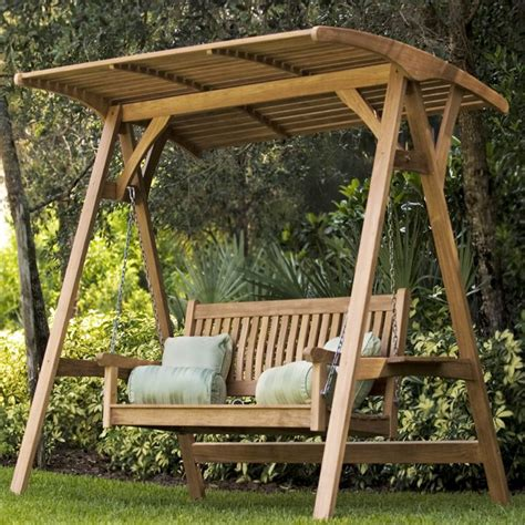 wooden patio swing marvelous garden swing bench 1 wooden swings with canopy