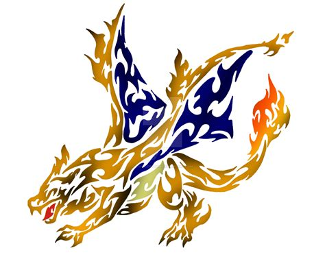 pokemon tribal tattoos tribal flaming charizard by dansudragon on deviantart