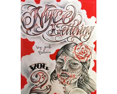 world wide tattoo supply nyce lettering vol 2 letter book books dvds