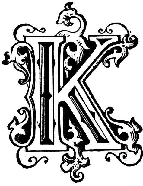 Letter K Drawing by Fancy Letter A Designs Clipart Best