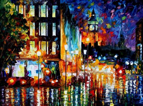 painting impressionism modern large original s lights palette knife painting on canvas by
