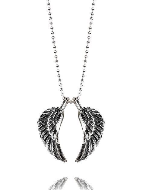 small silver wing necklace tilly sveaas jewellery