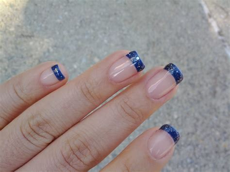 lotus nail and spa blue tip with glitter by yelp