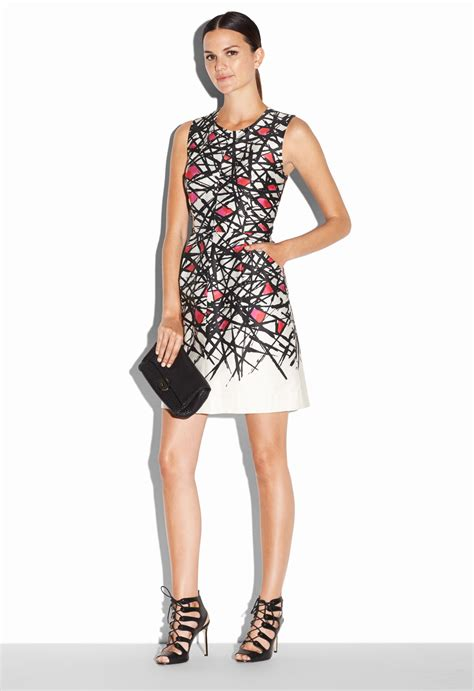 Dress Coco lyst milly abstract print coco dress in pink