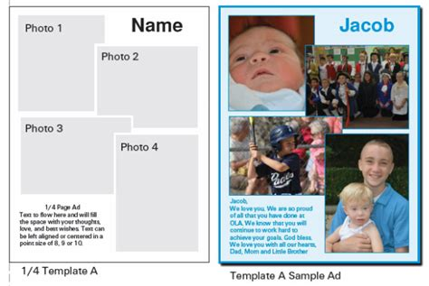 ad template choices and sles ola yearbook