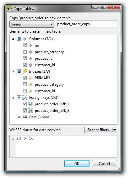 Mysql Copy Table by Top Mysql Gui Tools Usability Heidysql Rev Quot Copy