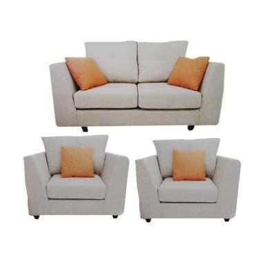 blibli furniture jual creova 2 1 1 xenia set sofa creme online harga