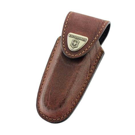 Swiss Army 2278 Black Brown Leather victorinox brown leather pouch 111 mm 2 3 layers belt