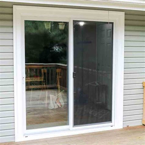 Nami Patio Doors Nami Screen Doors Standard White Metal Sliding Patio Screen Door Ispm200036wht The Home