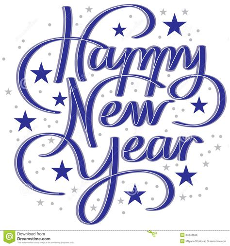 happy new year in font lettering happy new year royalty free stock photos
