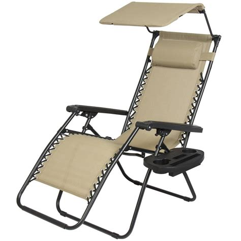 Chair With Canopy And Cup Holder by New 2 Pcs Zero Gravity Chair Lounge Patio Chairs With