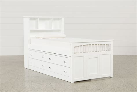 captain twin bed with underbed drawers bayfront twin captains bed w single 4 drawer unit living