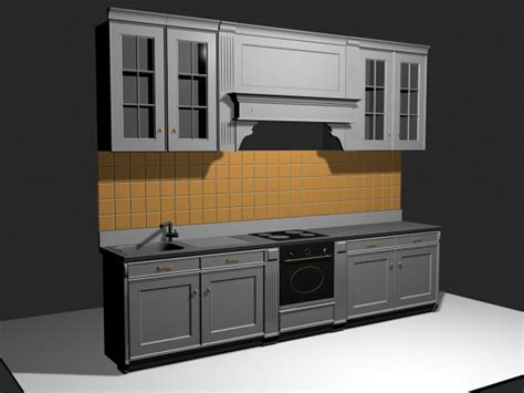 kitchen cabinet models custom kitchen cabinets with backsplash 3ds 3d studio