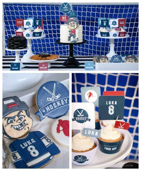 Hockey Giveaway Ideas - hockey themed birthday party