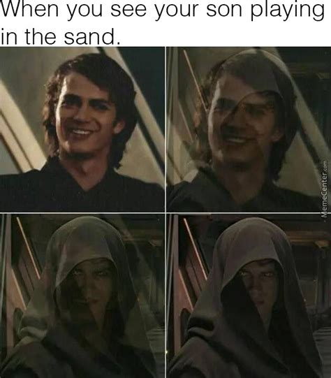 Anakin Skywalker Meme - i hate sand anikin skywalker by doulla meme center