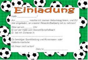 Muster Kinder Einladung Kindergeburtstag Einladung Fussball Cloudhash Info