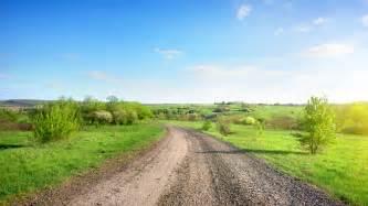 road rural gravel dirt path way grain street dust nobody