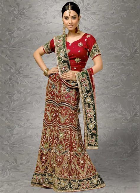 Indian Bridal Wedding Lehenga Choli Style Sarees Designs Of Sarees | fashion style indian sarees designs bridal wedding