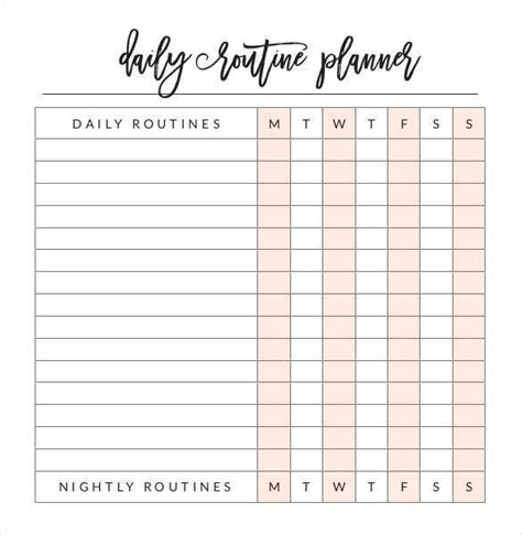 9 Personal Planner Sles And Templates Pdf Excel Sle Templates Daily Schedule Pdf Template