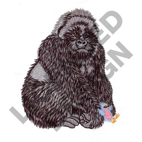 embroidery design gorilla great notions licensed embroidery design silverback