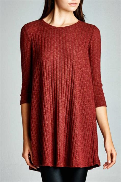 knit tunic cherish usa rib knit tunic from carolina by southern