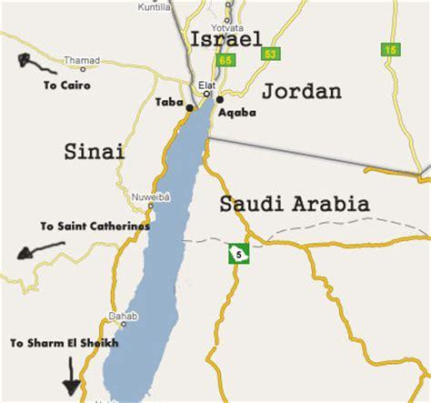 middle east map gulf of aqaba gulf of aqaba