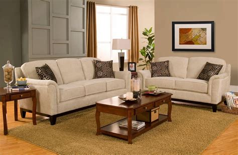 Fabric Sofa And Loveseat by Coaster Carver 502471 502472 Beige Fabric Sofa And
