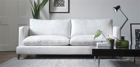 white linen sofa uk white sofas bradshaw contemporary linen slipcovered white