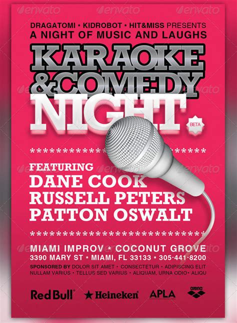 Karaoke And Comedy Night 4x6 Flyer Template By Loswl On Deviantart 4x6 Flyer Template