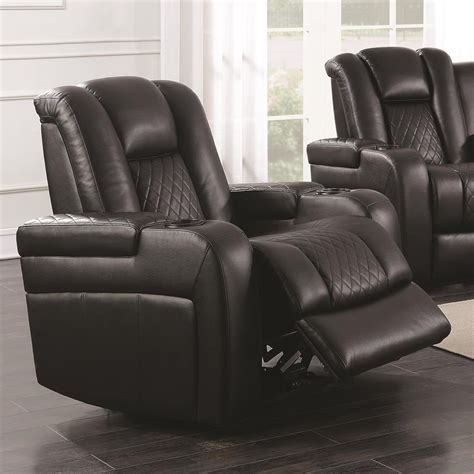 recliner with storage and usb coaster delangelo 602303p casual power recliner with cup