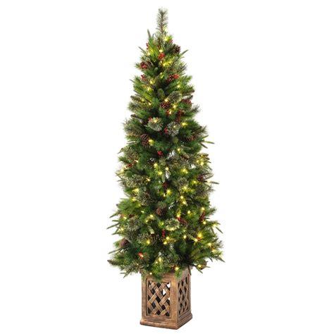 7 5 ft christmas tree with lights 7 5 ft pre lit led california cedar artificial christmas