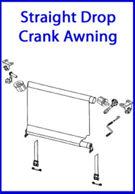 Canvas Awning Parts by Drop Crank Awning Coastal Canvas And Vinyl
