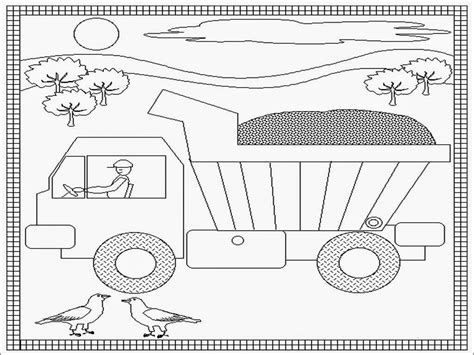printable coloring pages dump truck dump truck coloring pages printable realistic coloring pages
