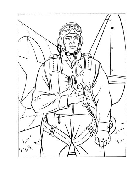 veterans day color pages    print