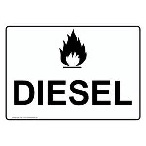 chemical diesel gasoline fuels signs