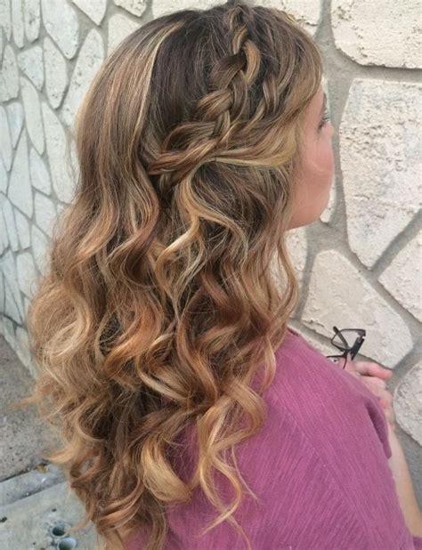 Braided Hairstyles With Curls 21 pretty ways to wear hair curls