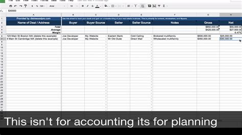 Real Estate Transaction Tracker Spreadsheet Template Youtube Real Estate Pipeline Template